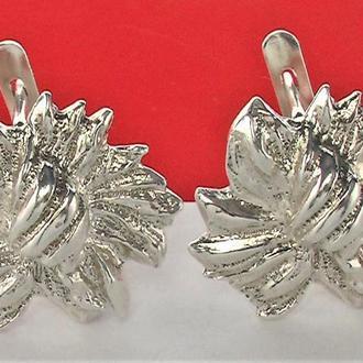 Серьги серебро СССР 925 проба 9,15 грамма