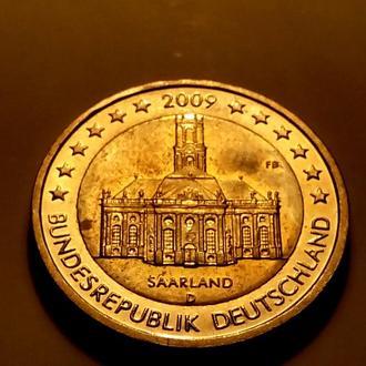 2 евро 2009 года, Германия (Федеральная земля Саар) - а