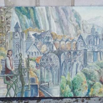 Город эльфов в горах