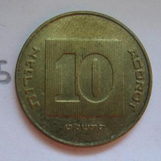 10 агорот Израиль.