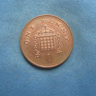 Великобритания 1 пенни 2001 год