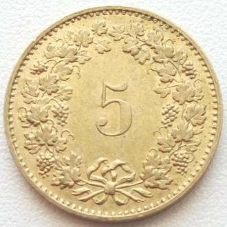 Швейцария 5 раппен, 1985