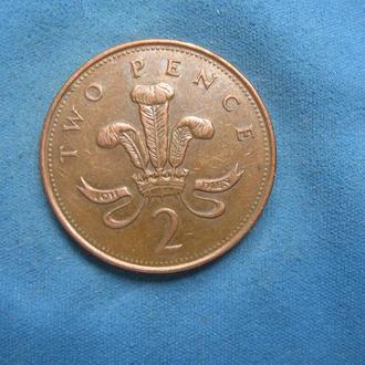 Великобритания 2 пенса 1995 год