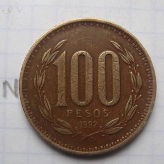 ЧИЛИ, 100 песо 1992 г.