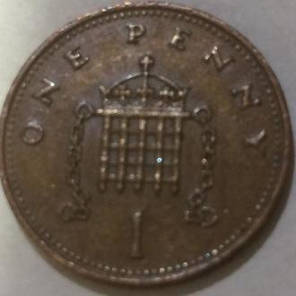 Великобритания 1 пенни 1983 г.