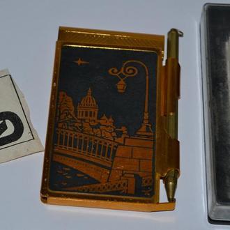 сувенирный блокнот 1986 год комплект новый в коробке идеальное состояние времен ссср винтаж