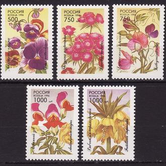 Россия 1996 Цветы Флора Декоративные растения 5 марок**