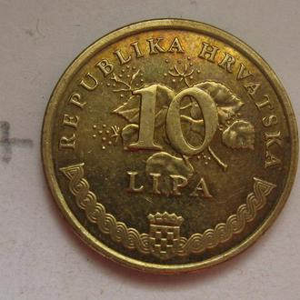 Хорватия 10 липа 2005 года (ТАБАК).