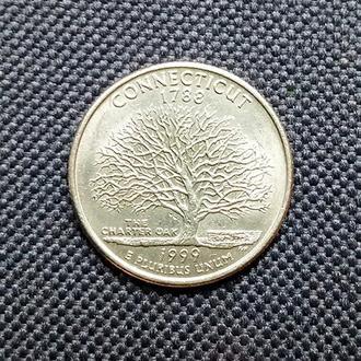 25 центов США, Коннектикут ( D )