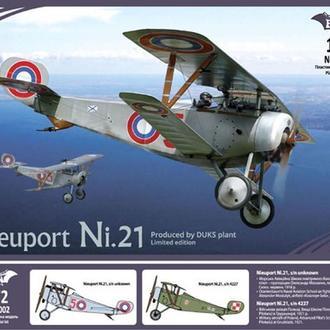 Bat Project - 72002 - Биплан Nieuport Ni.21 (производство завода ДУКС) - 1:72