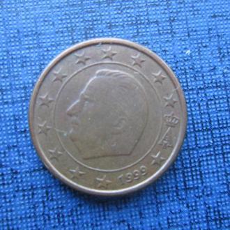 Монета 1 евроцент Бельгия 1999