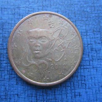монета 5 евроцентов Франция 2012