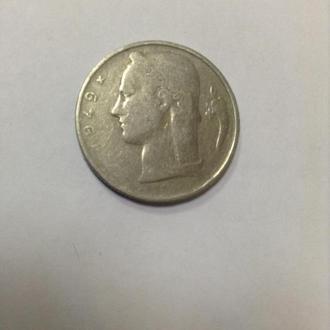 БЕЛЬГИЯ, 5 франков 1949