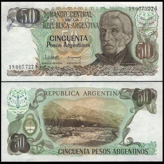 Аргентина  50 песо (1983-84) UNC