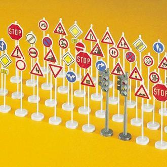 Набор дорожных знаков Preiser для макета  Piko,Roco