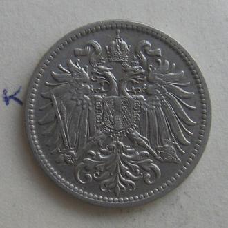 АВСТРО-ВЕНГРИЯ, 10 филлеров 1907 г. (состояние).