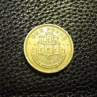 1 фунт 2001 AB Гібралтар фортеця