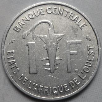 Западная Африка 1 франк 1967 фауна