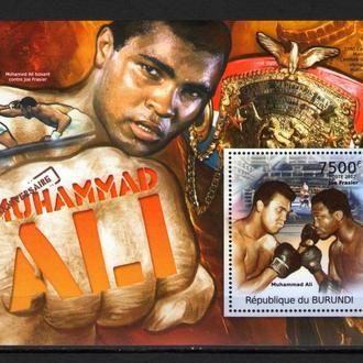 Бурунди 2012 Легенды Бокса Мухаммед Али блок 9-00 евро MNh **