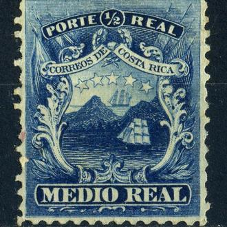 Коста-Рика. Первая марка * 1863 г.
