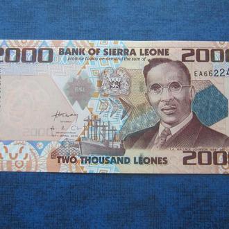 Банкнота 2000 леоне Сьерра-Леоне 2010 UNC пресс