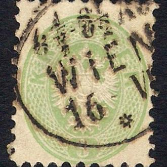 1863 год. Австрия. Coat of Arms. 3 Kr.