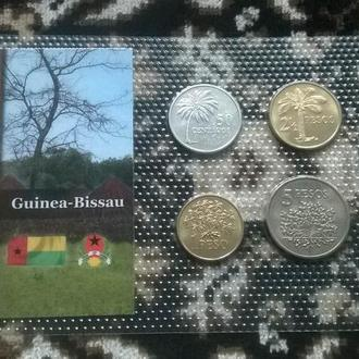 Набор 4 монеты ГВИНЕЯ-БИССАУ 1977 год - набір ГВІНЕЯ БІССАУ пластик блистер запайка