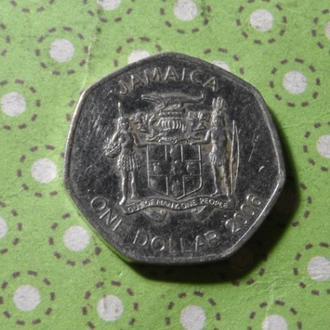 Ямайка 2006 год монета 1 доллар !