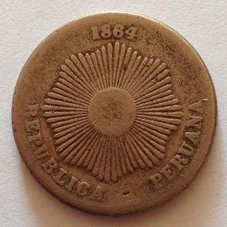 2 сентаво, 1864 г, Южное Перу