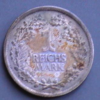 1 Рейхсмарка 1926 г A Германия Серебро 1 Марка 1926 г A 1 Рейхсмарка 1926 р A Німеччина Срібло