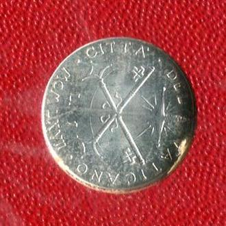 Ватикан 1 лира 1967 UNC  из набора!