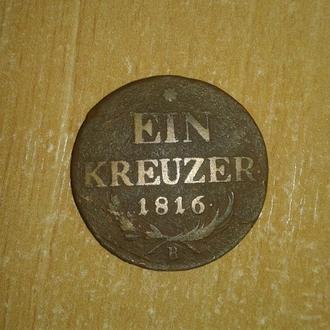 1 крейцер, 1816, Австрія