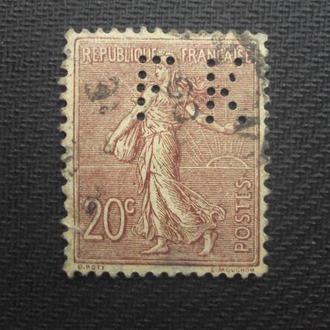 Франция 1906г. гаш. перф.
