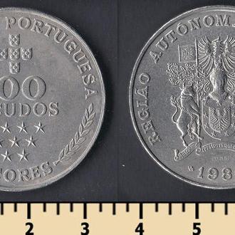 Азорские о-ва 100 эскудо 1980