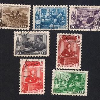 СССР 1949 год. Международный женский день 8-марта.Серия СК-1278 -1284