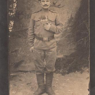Фото. Георгиевский кавалер в немецком ремне.