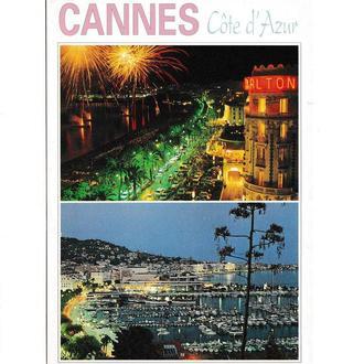 Открытка Cote D'Azur, Cannes, Alpes-Maritimes, Французская Ривьера, Канны, Приморские Альпы, море