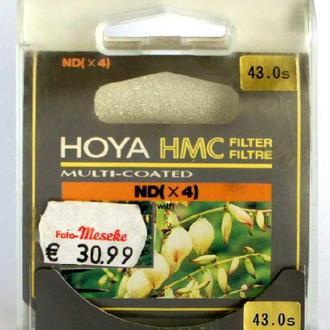 Нейтрально-серый светофильтр HOYA HMC NDx4 43 mm