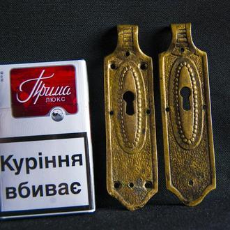 Оригинальные антикварные накладки для мебели. Бронза-2шт.