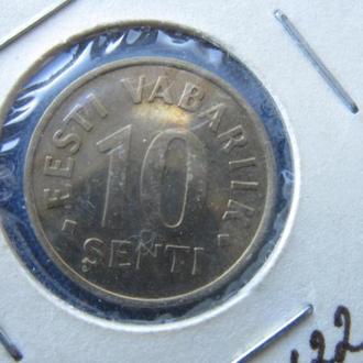 Монета 10 сенти Эстония 1994