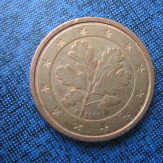монета 2 евроцента Германия 2003 A