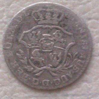 марка 2 гроша 1767г. Польша. Серебро