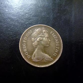 2 пенса (1980) Великобритания.
