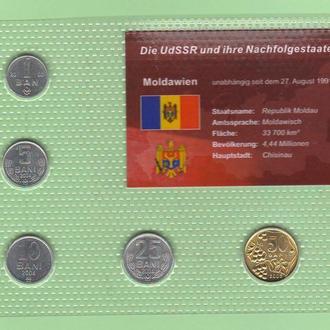 Набор монет МОЛДОВА блистер запайка пластик