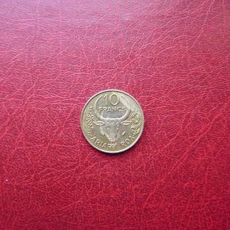 Мадагаскар 10 франков 1987
