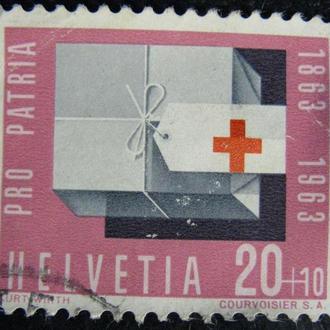Марка Швейцария 20, 1963 Pro Patria - The 100th Anniversary of the Birth of Anna Heer, 1863-1918 - R