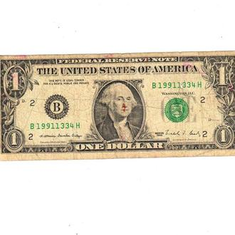 1 $ доллар США 1988 год B