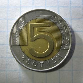 5 злотых 1994 год  Польша