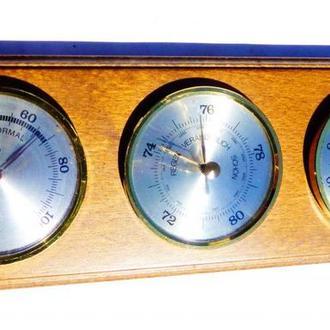 Барометр, термометр, - Германия . дуб - горизонтальный