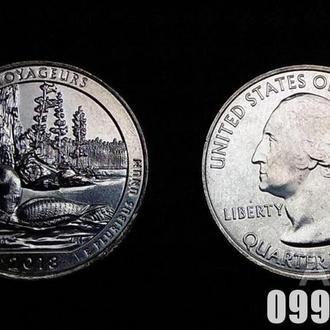 Монета Национальный парк США или Прекрасная Америка, 25 центов, 43-й парк Вояджерс! UNC